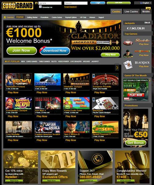 Eurogrand Casino Bonus - 701679