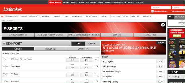 ESports Wetten - 749904