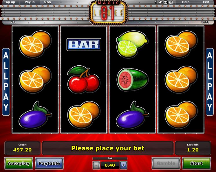 Spielautomaten Bonus spielen - 64277